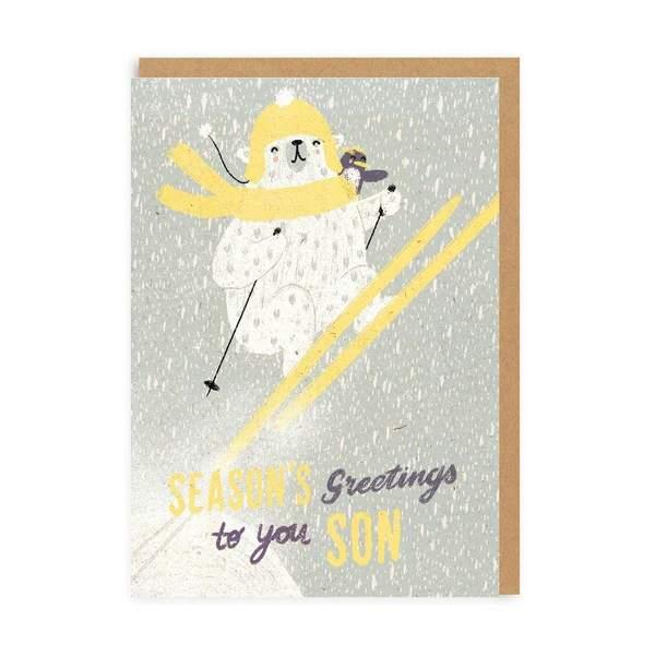 Son Seasons Greetings Christmas Card