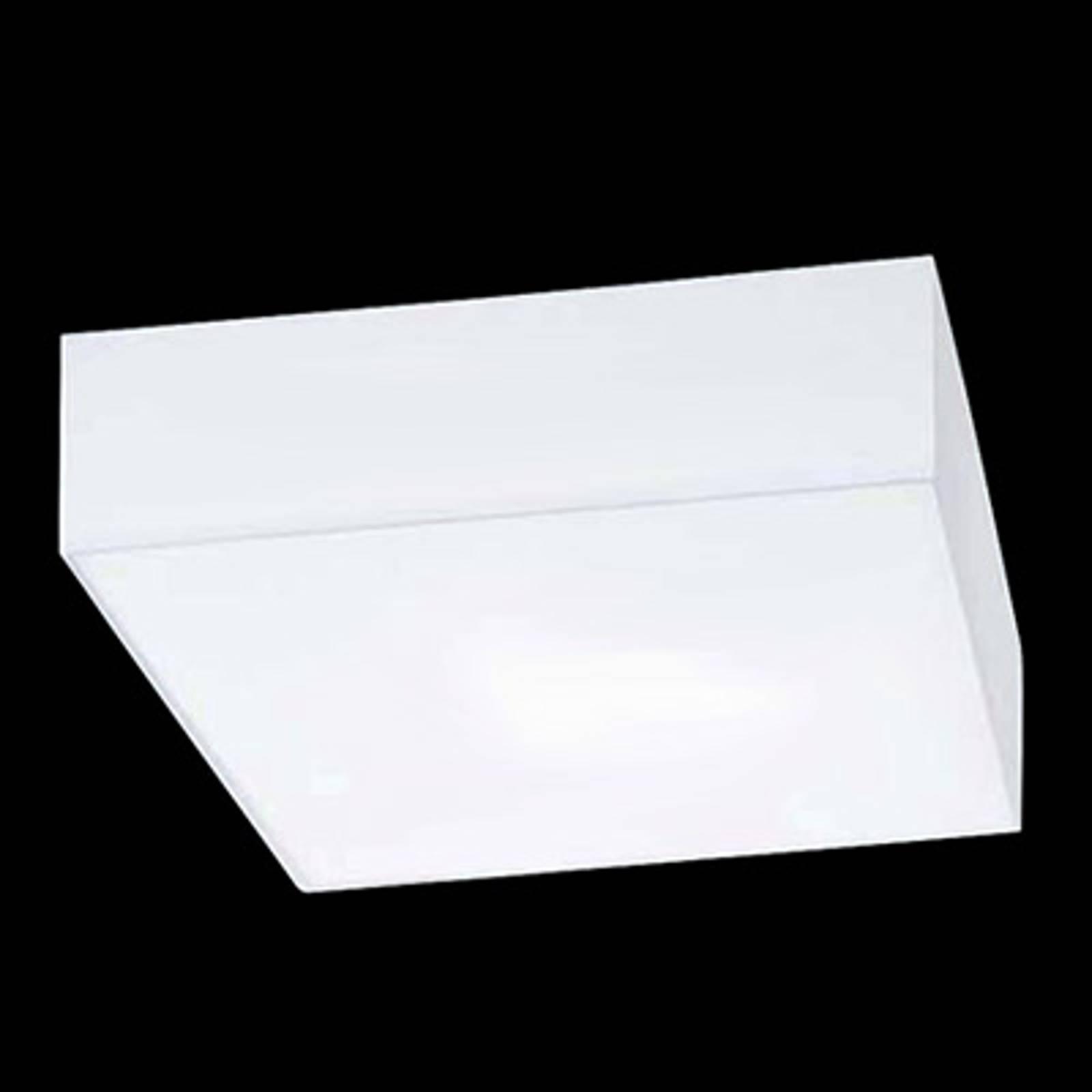 Neliönmuotoinen kattovalaisin Cube Hela, valkoinen