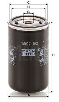 Polttoainesuodatin MANN-FILTER WDK 719/2