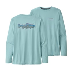 Patagonia M's L/S Cap Cool Daily Fish Graphic Shirt