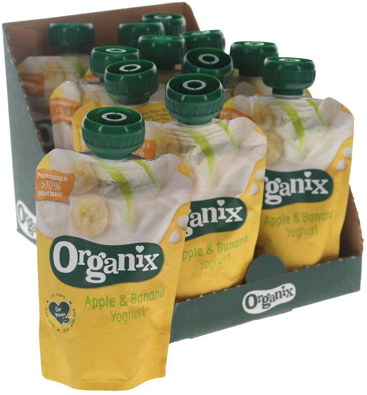 Luomuvälipala Jogurtti, Omena & Banaani 12kpl - 46% alennus