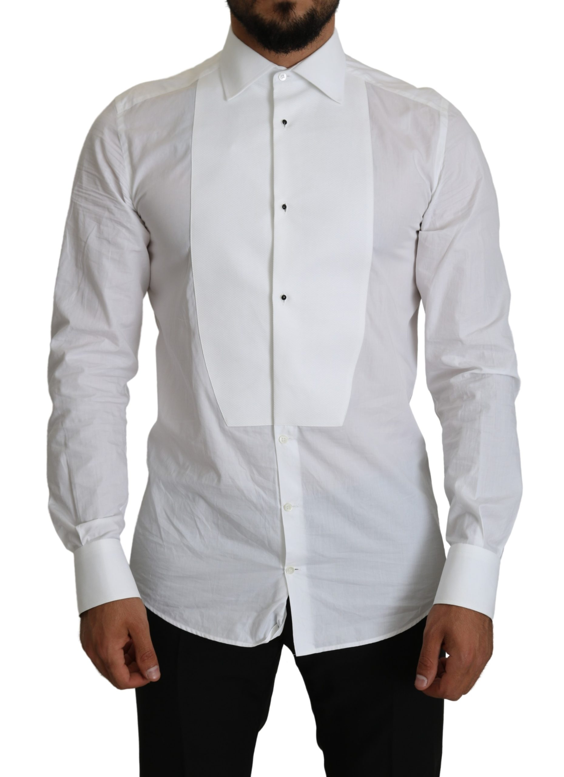 Dolce & Gabbana Men's Formal Cotton Shirt White TSH5167 - IT40 | M