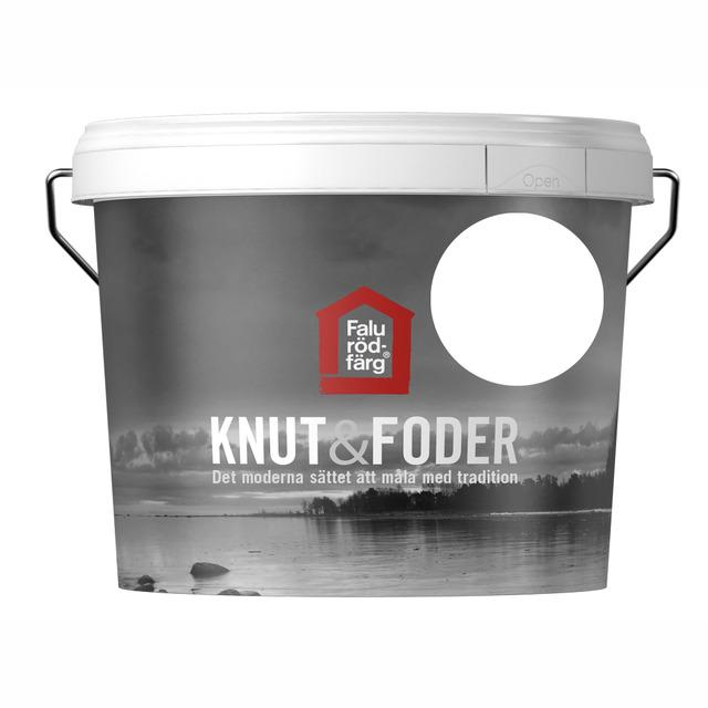 FALU RÖDFÄRG KNUT&FODER VIT 3L
