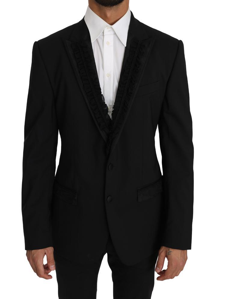 Dolce & Gabbana Men's Wool MARTINI Torrero Blazer Black KOS1219 - IT50 | L
