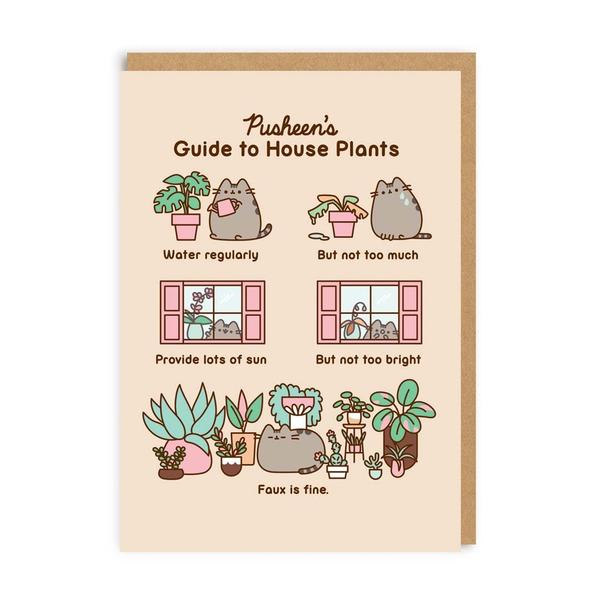 Pusheen's Guide To House Plants Greeting Card