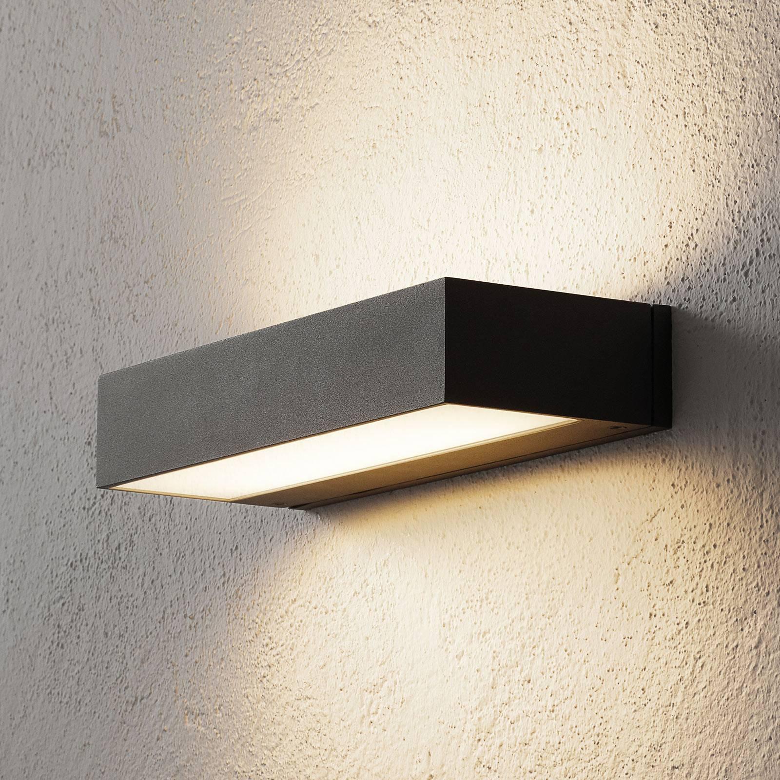 BEGA 33341 LED-vegglampe, 3000K 30 cm up/down sølv