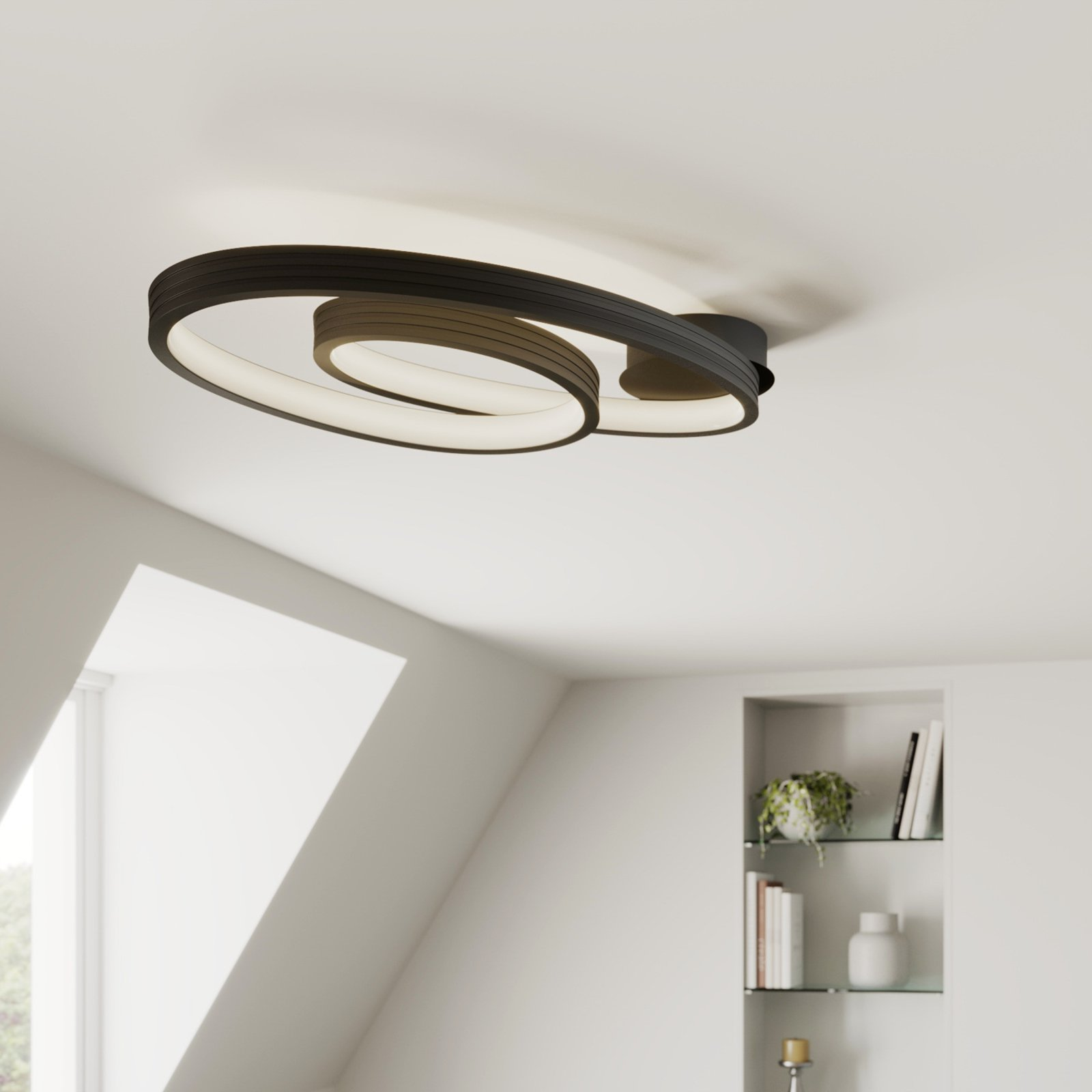 Lucande Bronwyn LED-taklampe, 72,5 cm