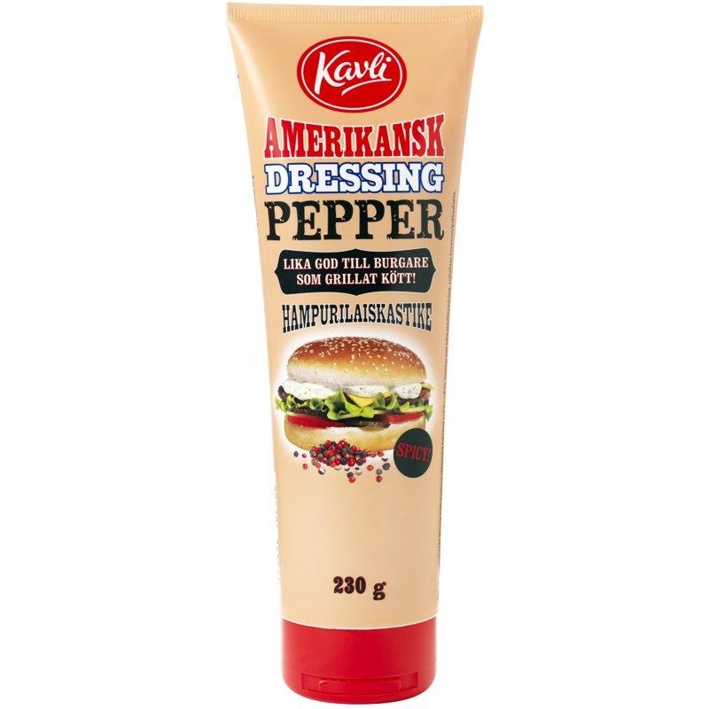 Hampurilaiskastike Pippuri 230g - 50% alennus