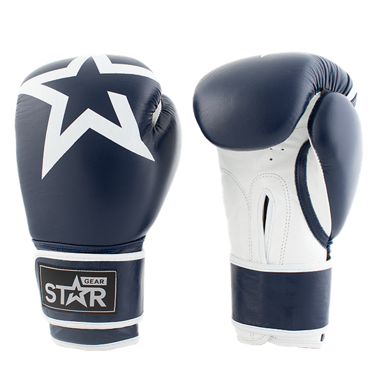 Star Gear Leather Boxing Glove, Patriot Blue
