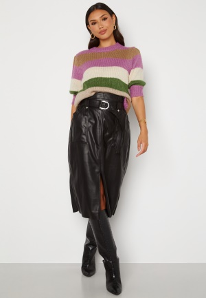 ONLY Alba Faux Leather Long Skirt Black M