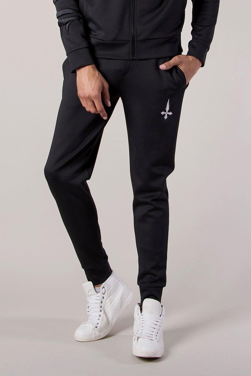 Slide Men's Joggers / Jogging Bottoms - Black, Large