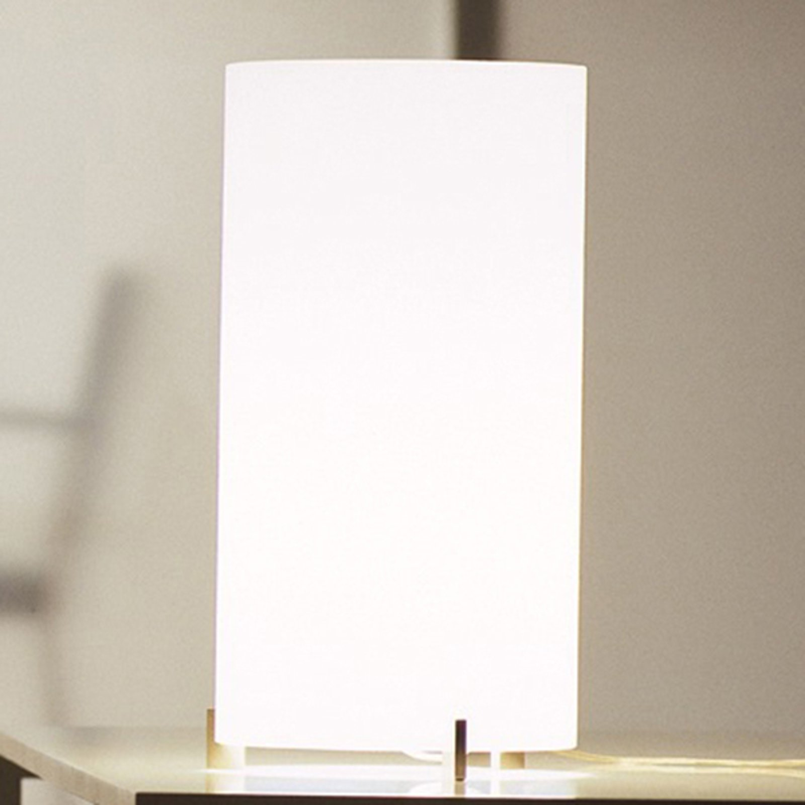 Prandina CPL T1 bordlampe krom, glass opal