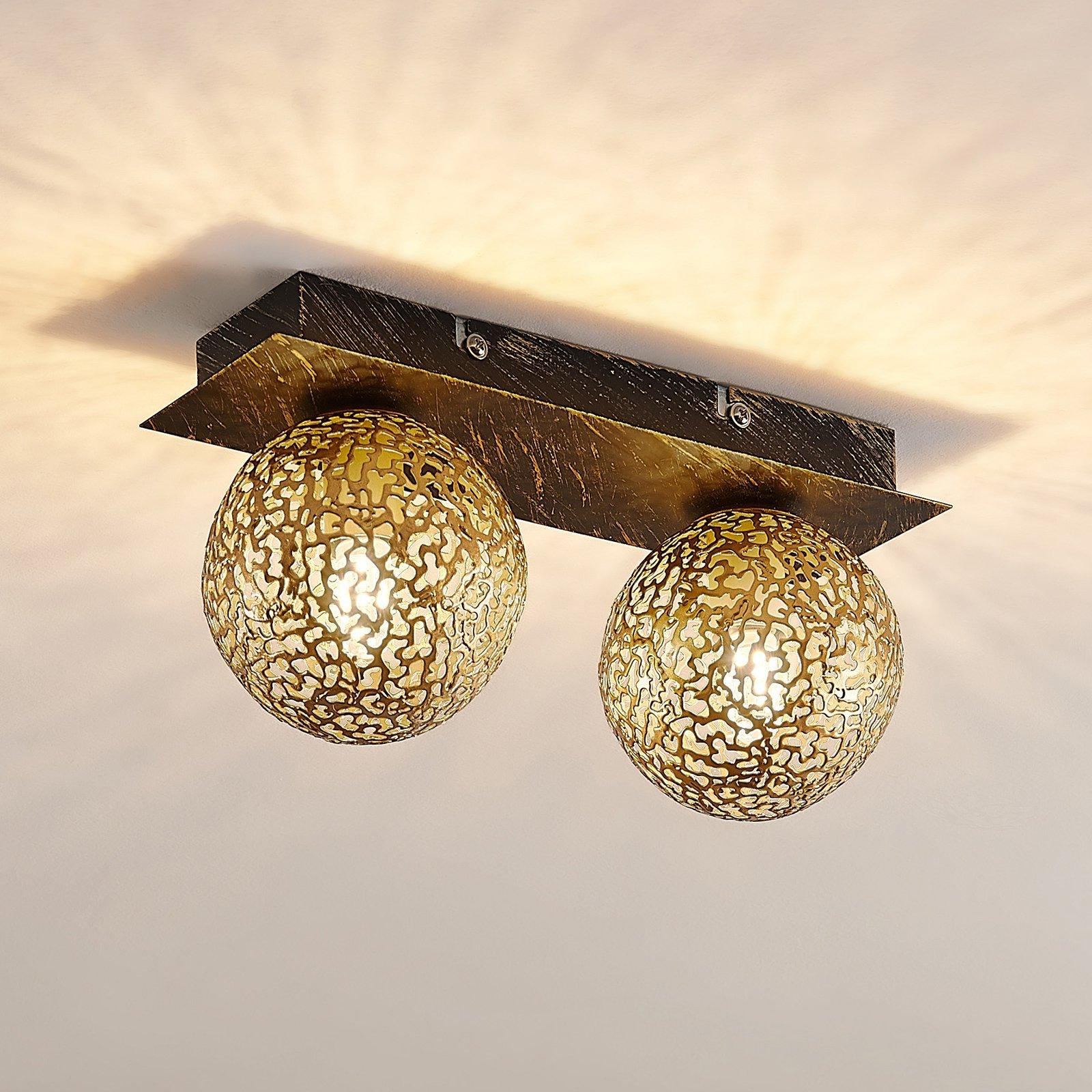 Lucande Evory taklampe, kantet, 2 lyskilder