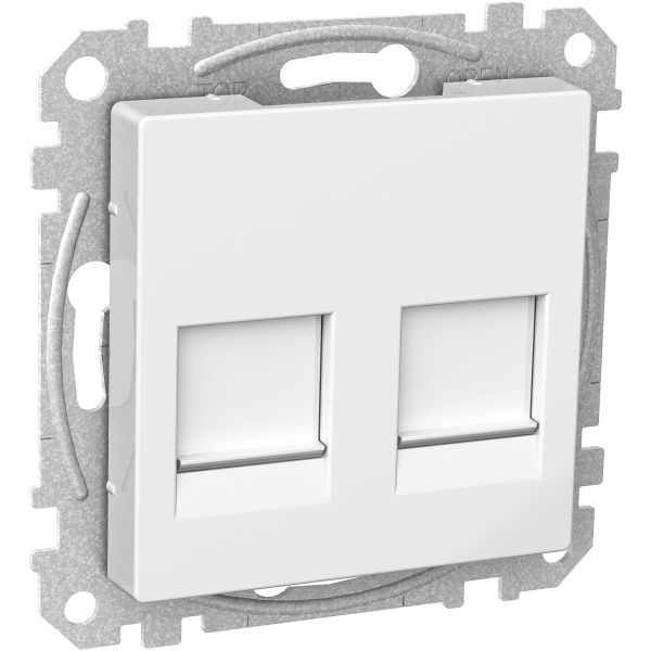 Schneider Electric WDE002378 Midtplate 2x Keystone-jack Hvit