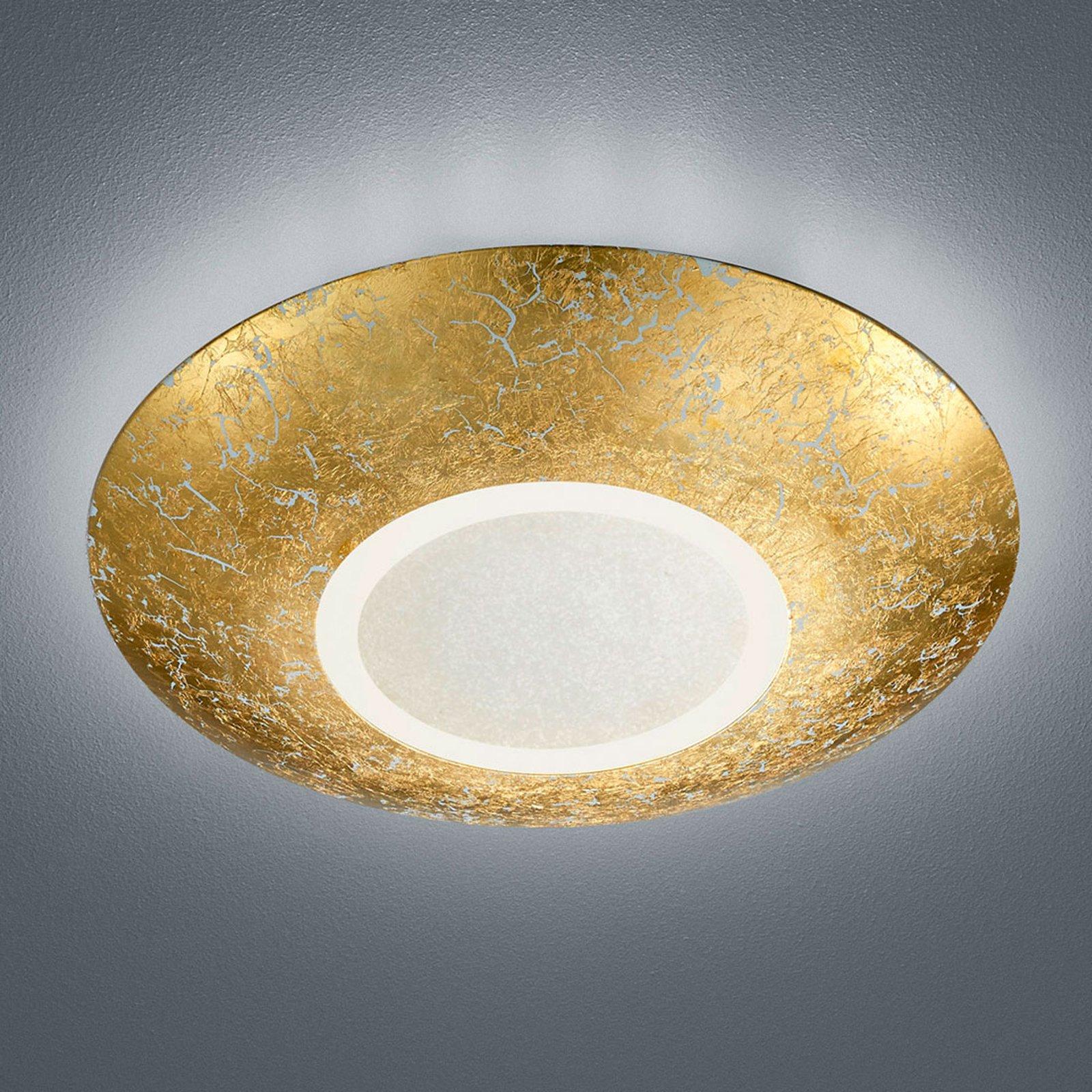 Taklampe Chiros LED rund gullfarget