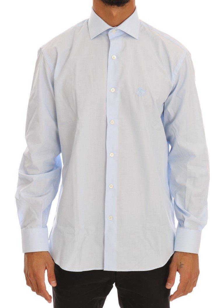 Cavalli Men's Shirt Blue TSH1485 - 39