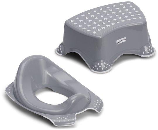 Beemoo Care Anti-Slip Toalettsete og Krakk, Grå