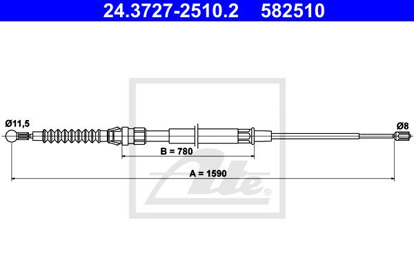 Käsijarruvaijeri ATE 24.3727-2510.2