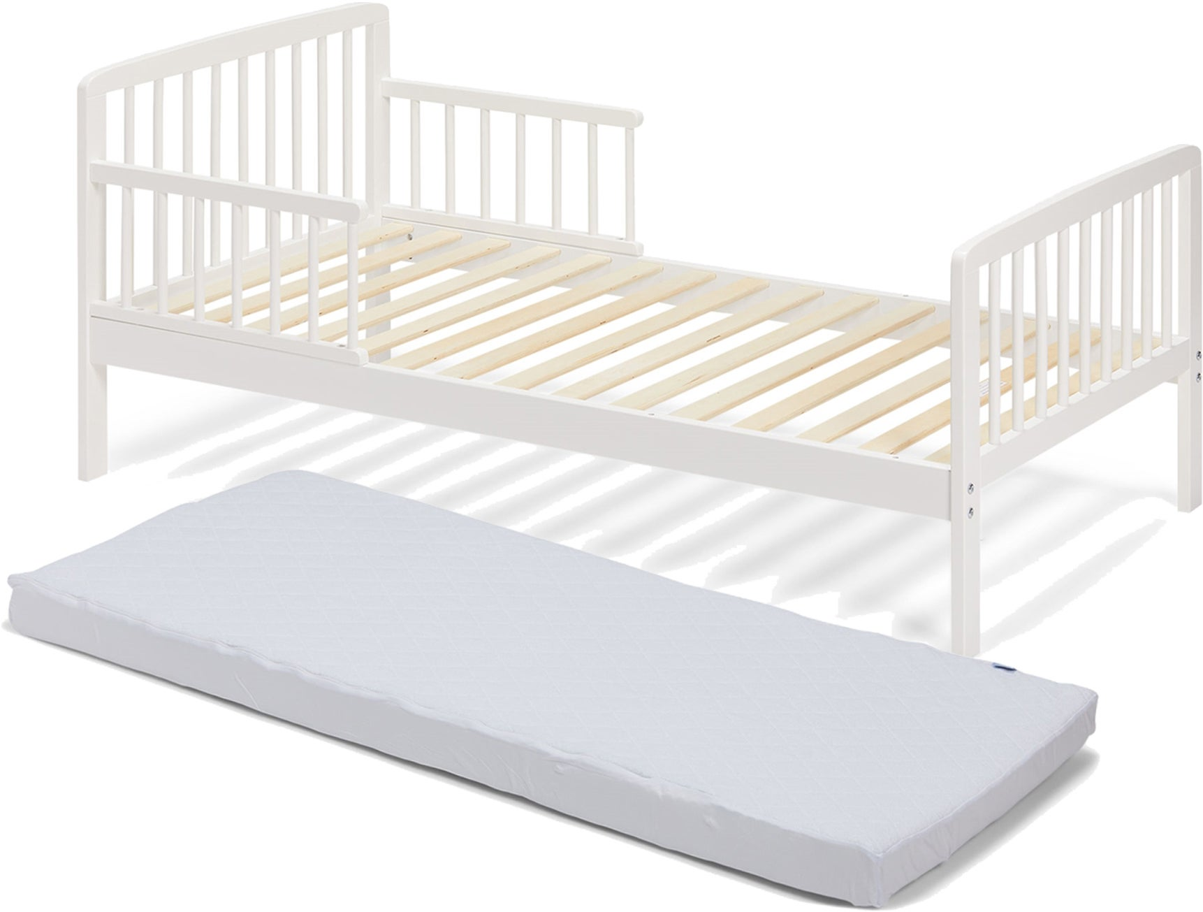 JLY Heaven Juniorisänky, Valkoinen & BabyMatex Patja Soft Plus