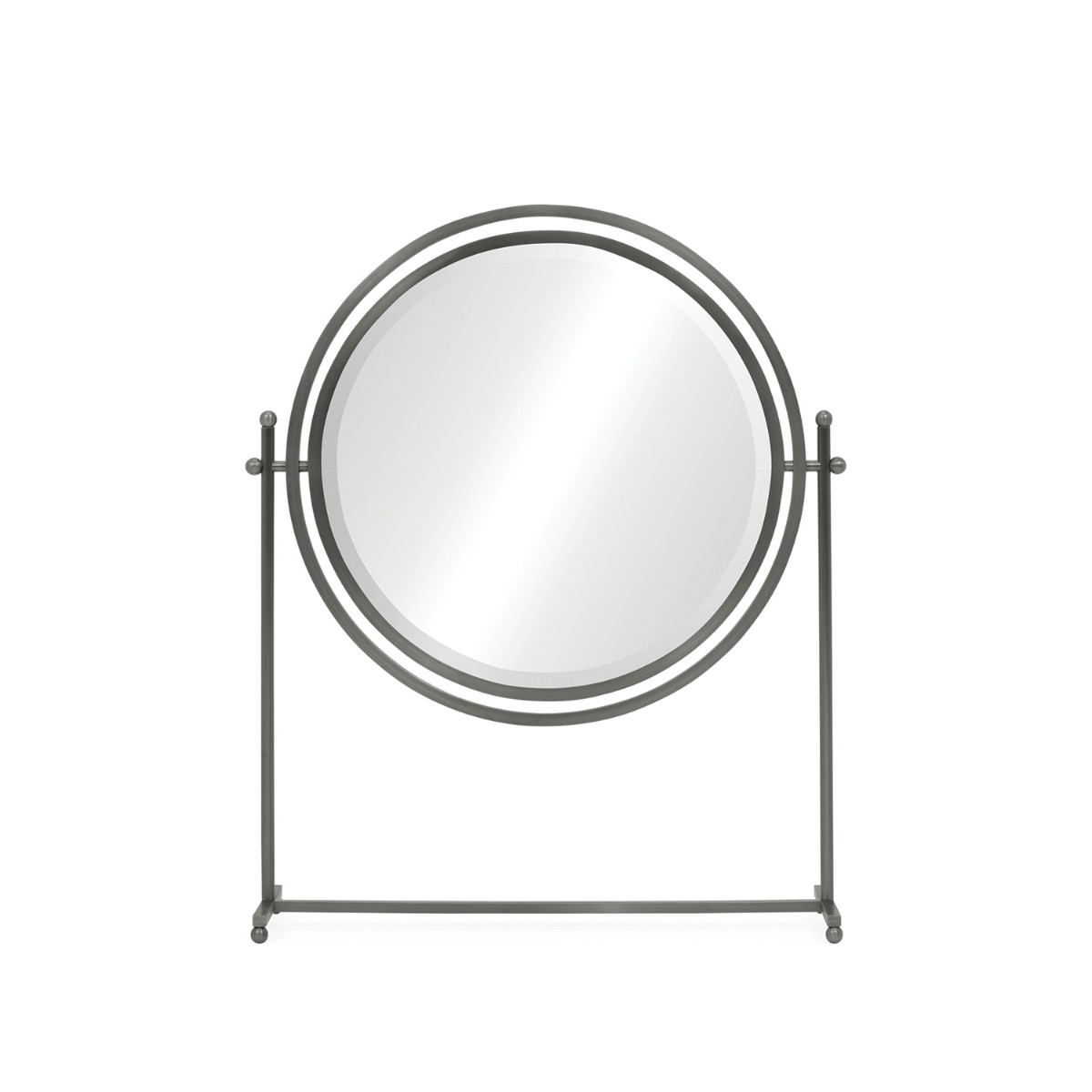 William Yeoward   Sandrine Round Tilt Dressing Mirror Antique Bronze