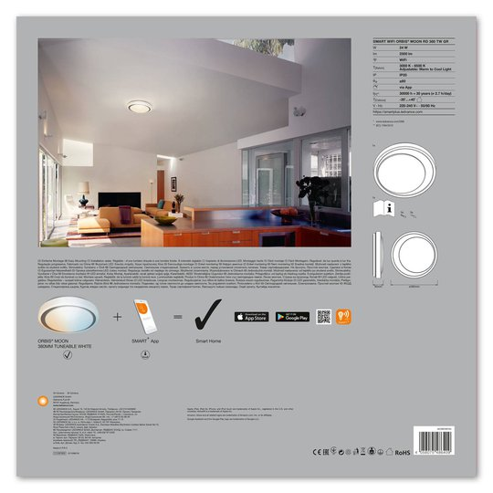 LEDVANCE SMART+ WiFi Orbis Moon CCT 38 cm grå