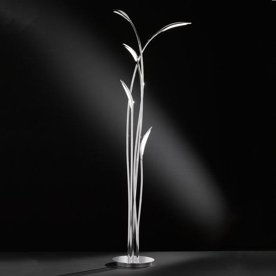 LED-lattiavalo Hampton, himmennettävä, kromi