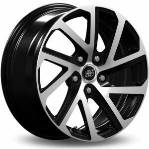 INFINY Cobalt Bright Black Machined Face 7x16 4/108 ET40 B63.4