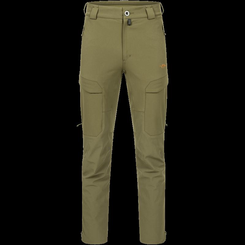 Blaser Men's Charger Pants 48 Dark Olive Vanntett og vindtett jaktbukse