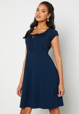 Happy Holly Tessan dress Dark blue 52/54