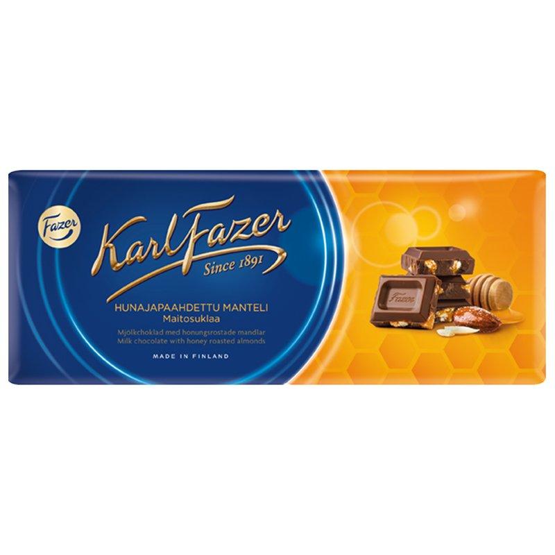 """Mjölkchoklad """"Honungsrostade Mandlar"""" 200g - 28% rabatt"""