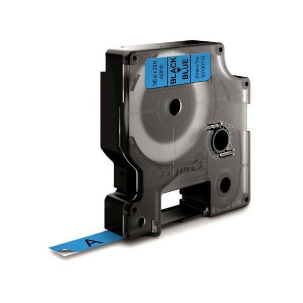 DYMO Standard D1 Teippi 9mm Musta teksti, sininen pohja