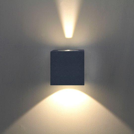 Jarno LED-ulkoseinävalaisin, grafiitti