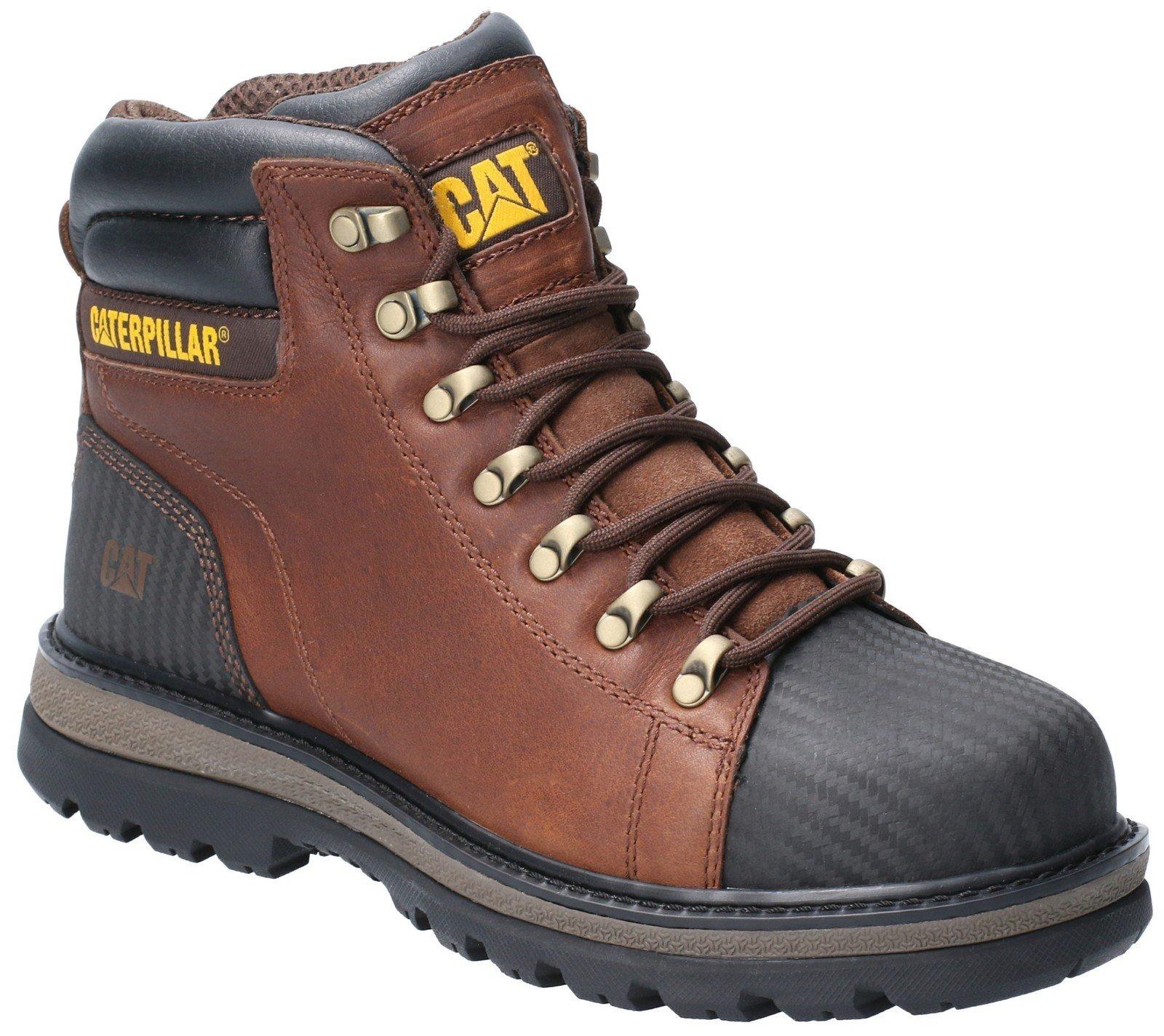 Caterpillar Men's Foxfield Lace Up Safety Boot Oak 29661 - Oak 6