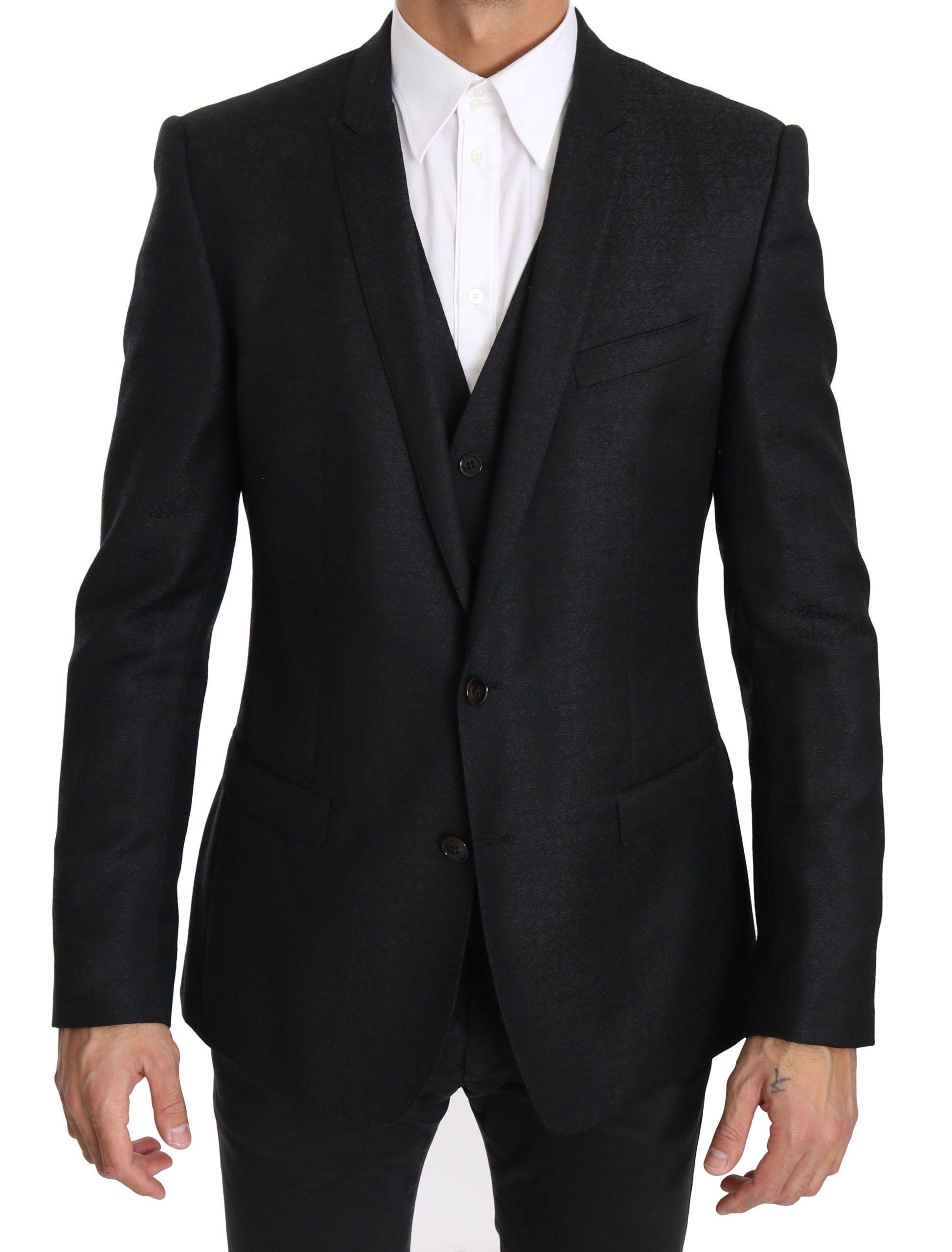 Dolce & Gabbana Men's Two Piece Blazer Black KOS1611 - IT50   L
