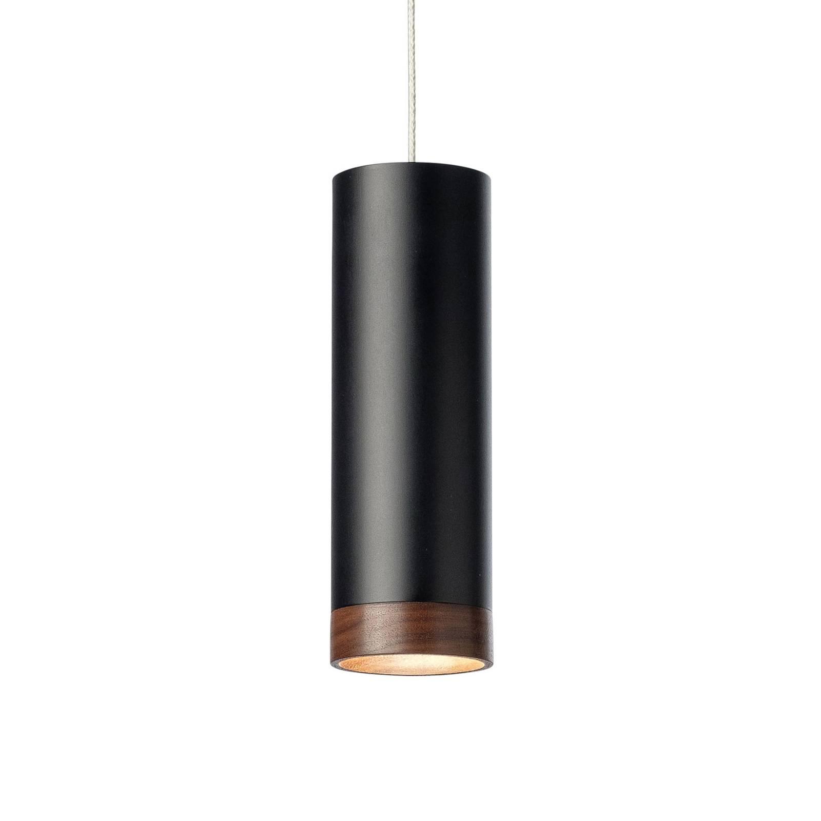 LED-riippuvalaisin PHEB, musta/pähkinäpuu