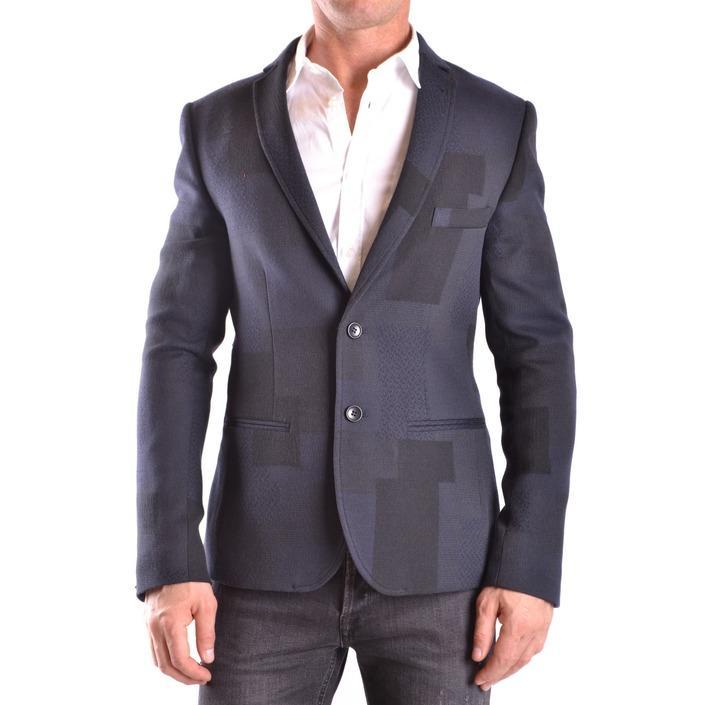 Daniele Alessandrini Men's Blazer Blue 186641 - blue 48