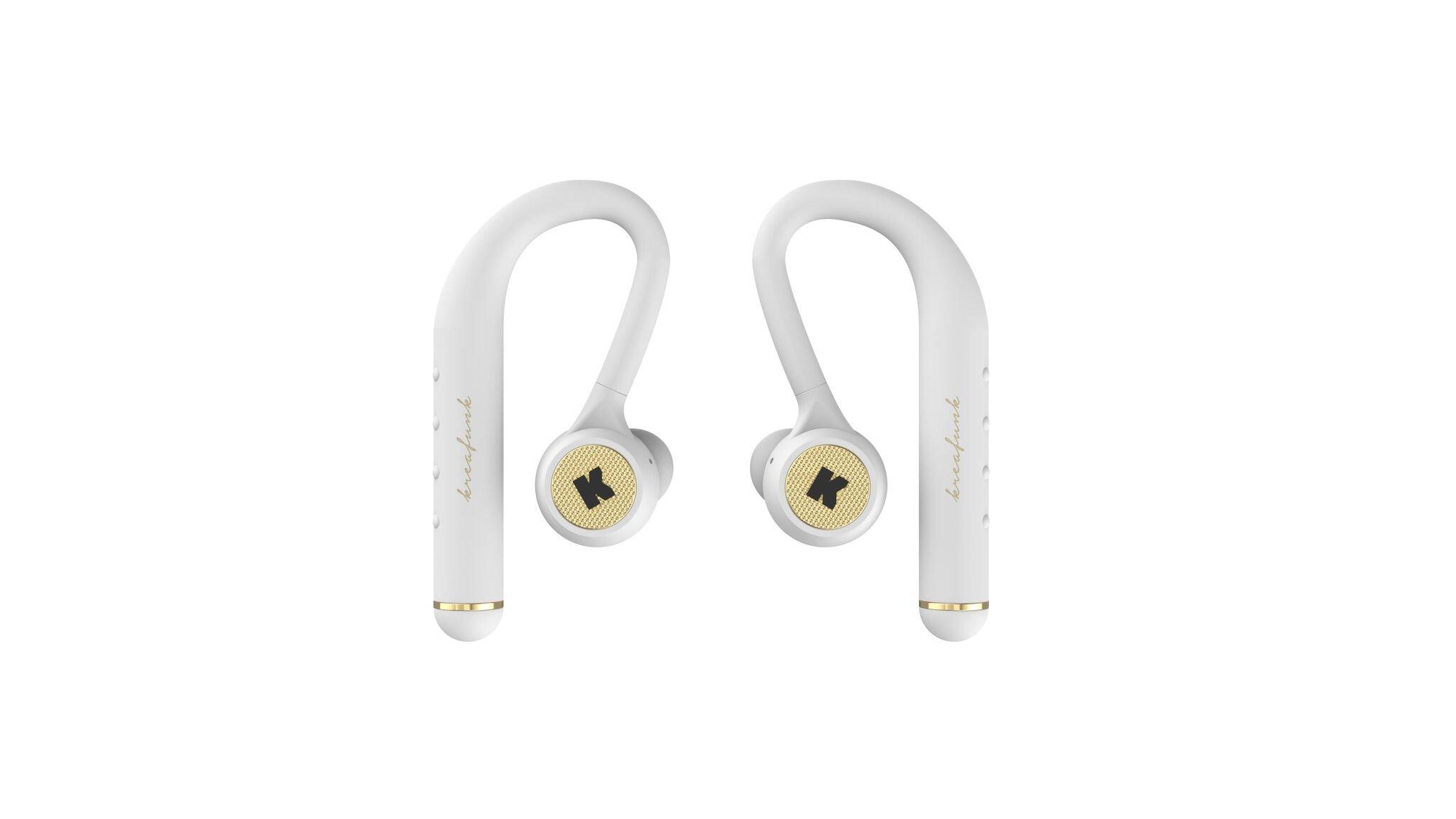 KreaFunk - bGEM Bluetooth Headphones - White/Gold (kfkm01)