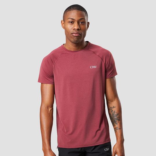 Workout Melange T-shirt, Crimson Red Melange