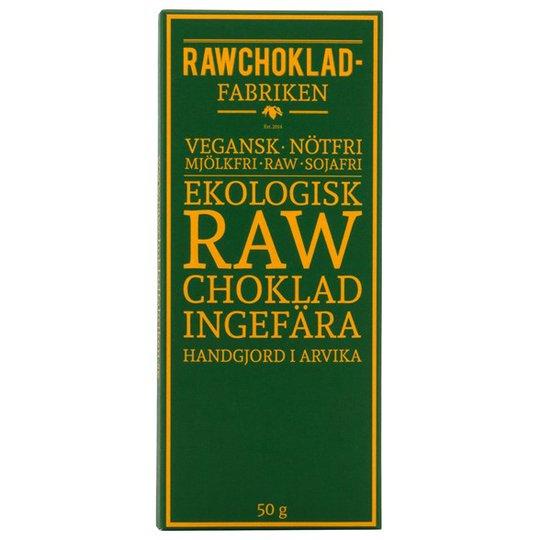 Rawchokladfabriken Ekologisk Rawchoklad Ingefära 73%, 50 g
