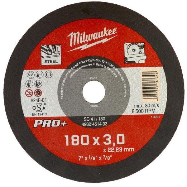 Milwaukee SCS 41 PRO+ Kappskive 180x3 mm