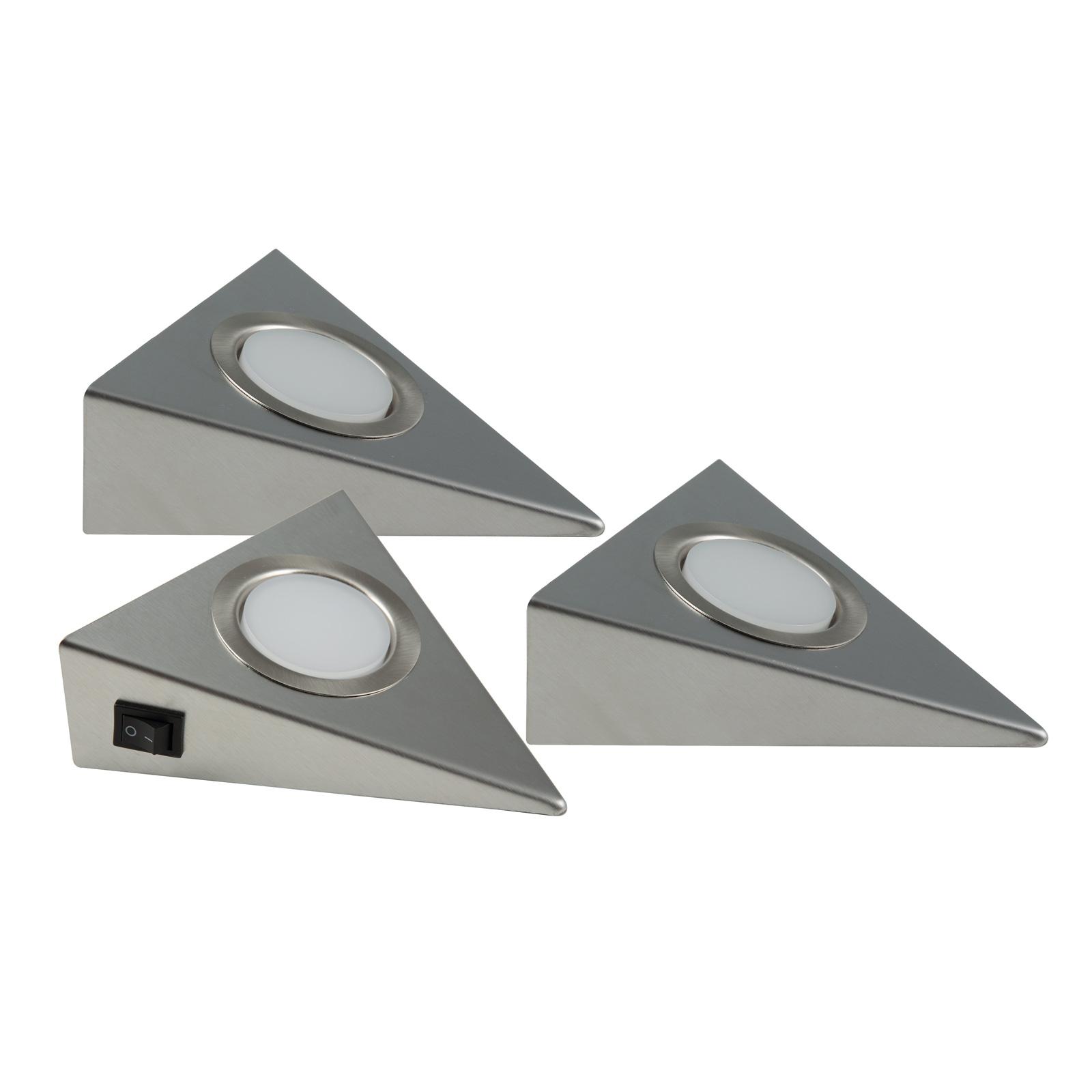 LED-kaapinalusvalaisin Genua 3 kpl, kytkin