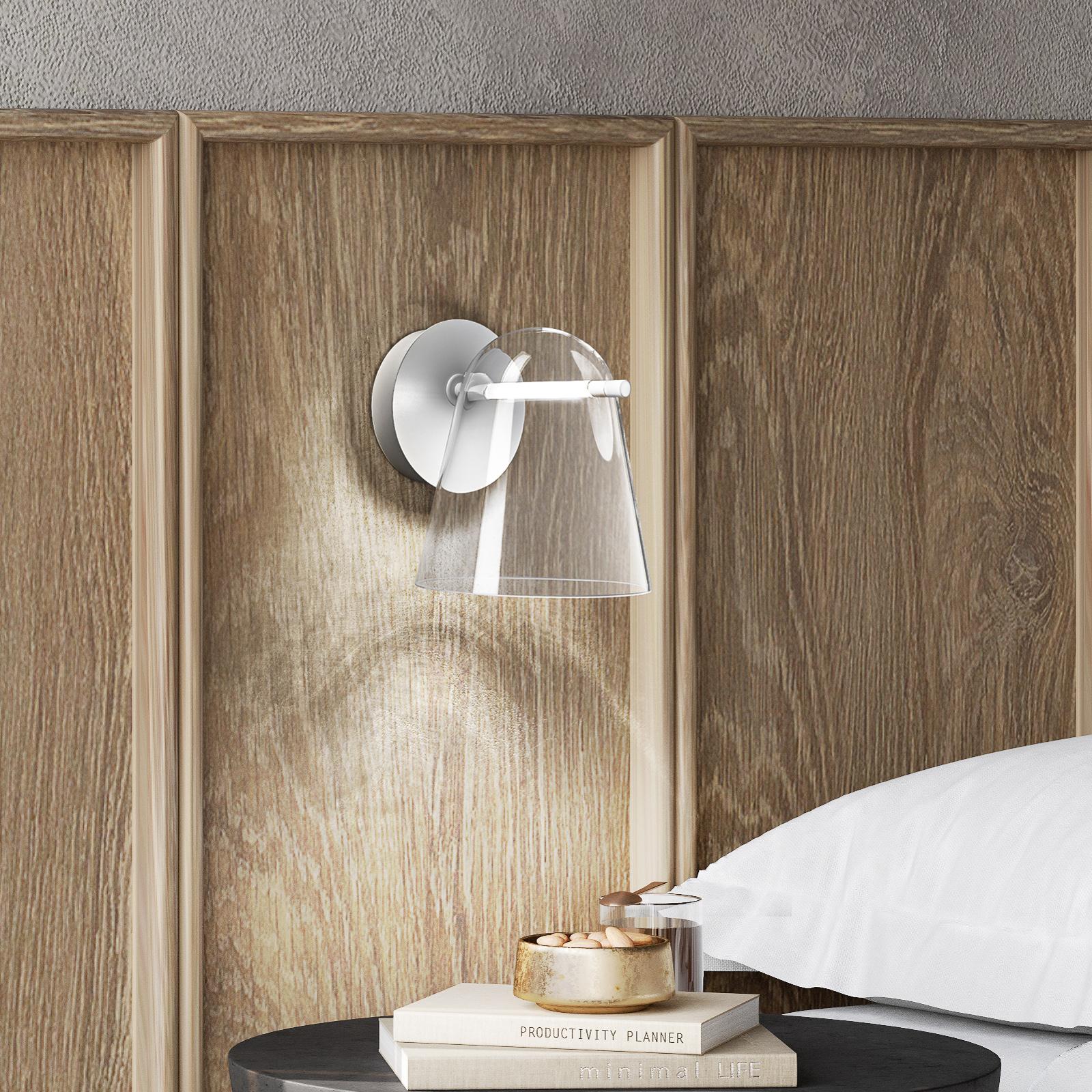 Prandina Sino W3 -LED-seinälamppu kirkas/valkoinen