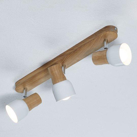 Svantje -.3-lamppuinen kattolamppu luontoilmeellä