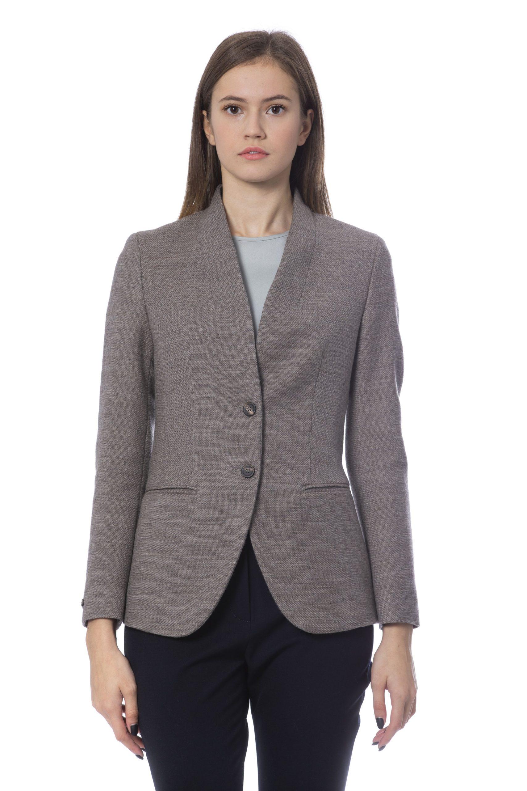 Peserico Women's Jackets Beige PE854514 - IT48 | XL