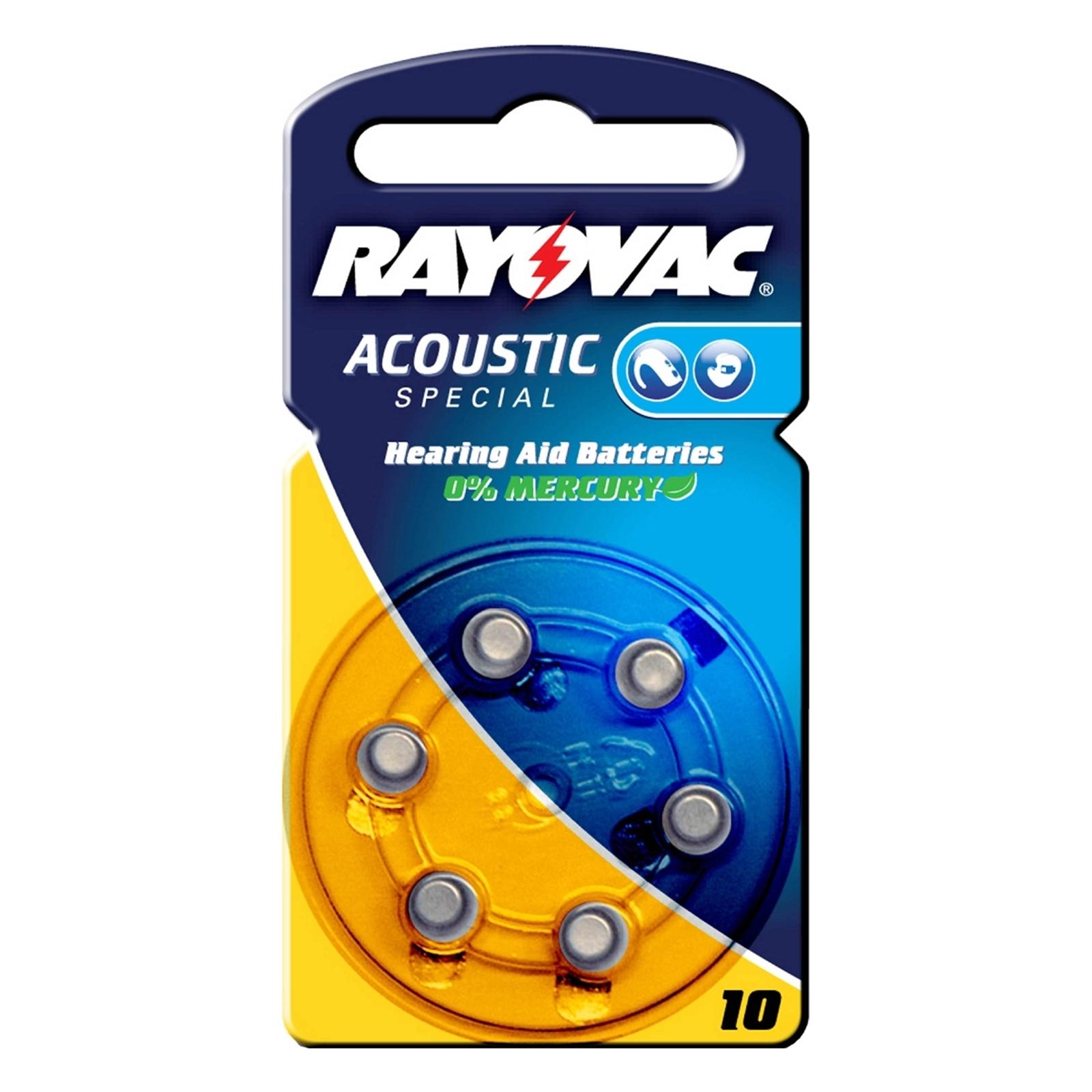 Rayovac 10 Acoustic 1,4 V, 105m/Ah nappiparisto