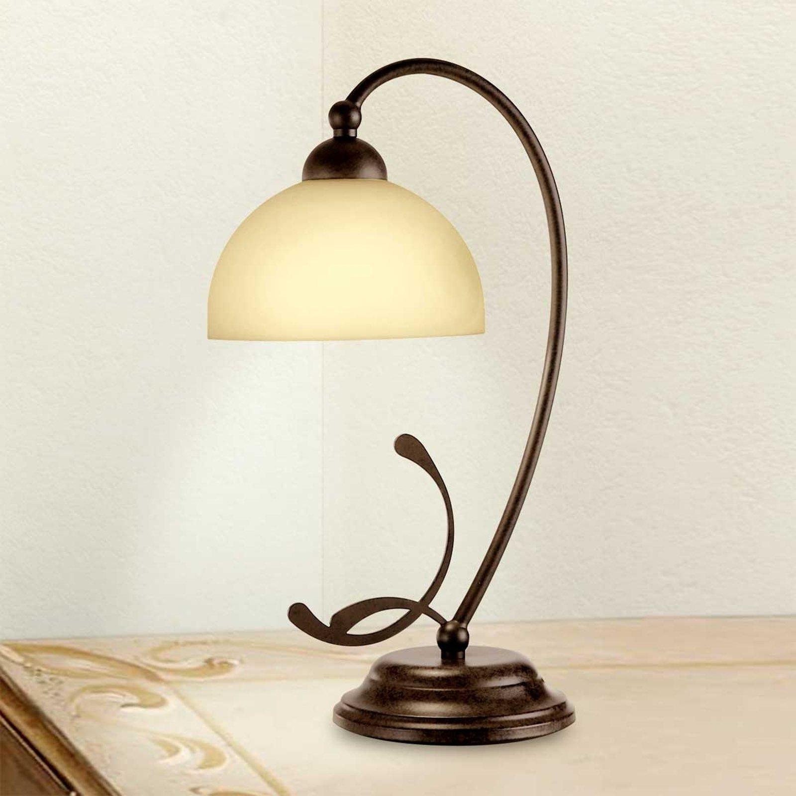 Rustikk bordlampe Lorenzo