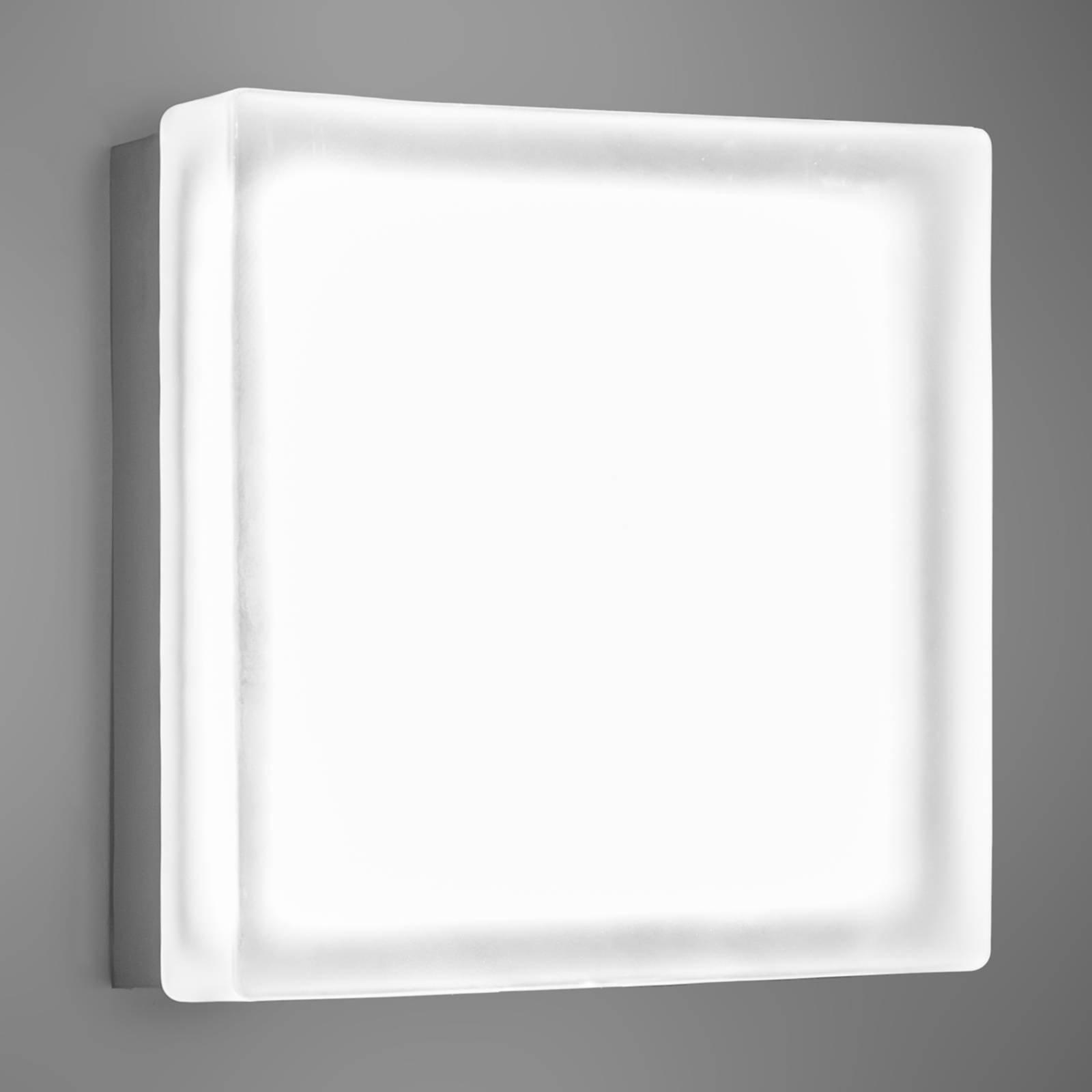 Kvadratisk LED-vegglampe Briq 02 universalhvit