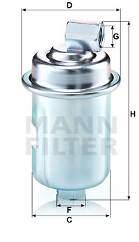 Polttoainesuodatin MANN-FILTER WK 614/44