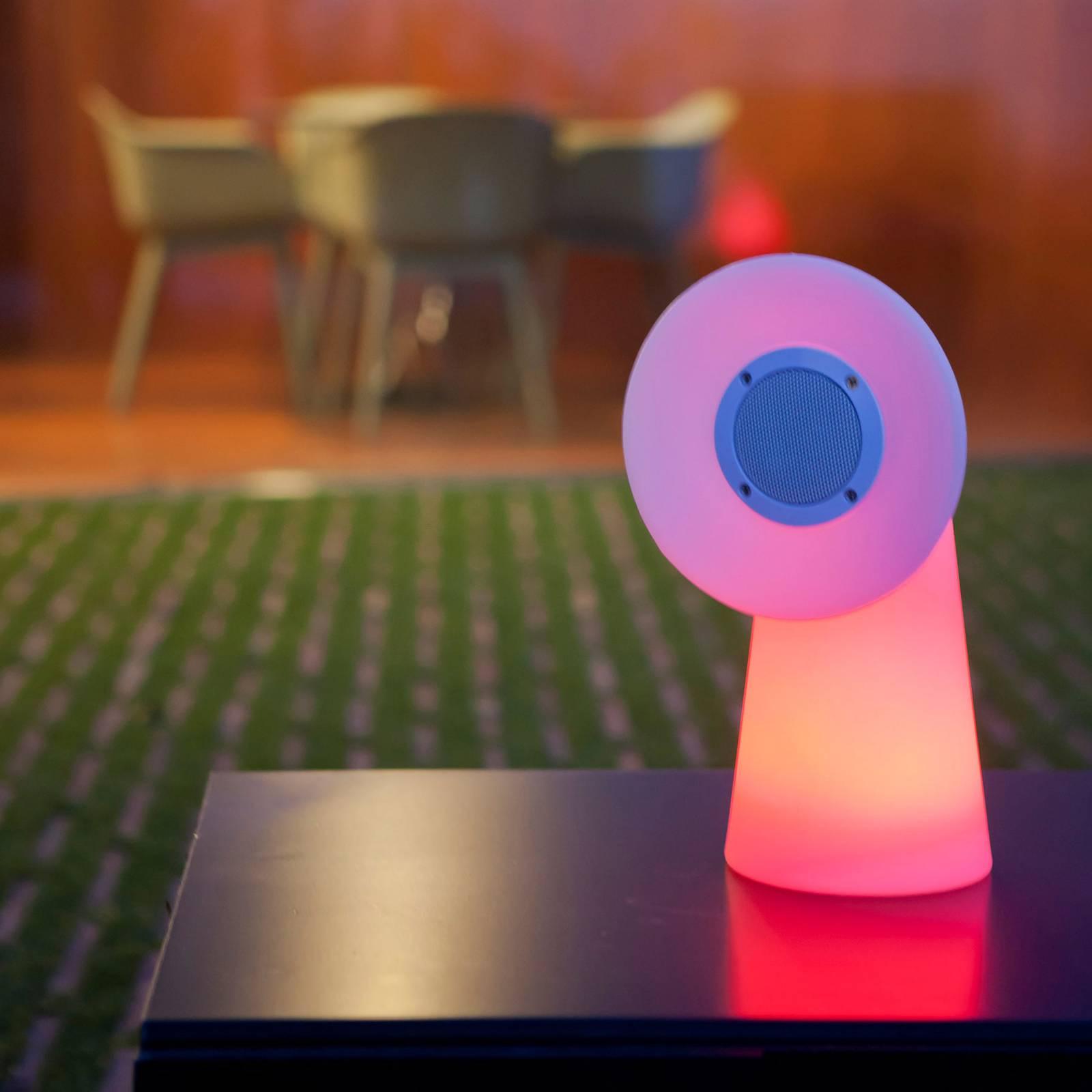 Newgarden Pipa -LED-pöytävalaisin kaiuttimella