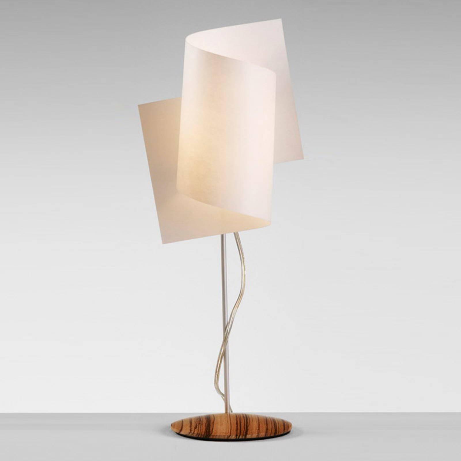 Interessant Loop bordlampe i zebrano